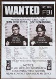 "Supernatural FBI ""Wanted"" Poster"